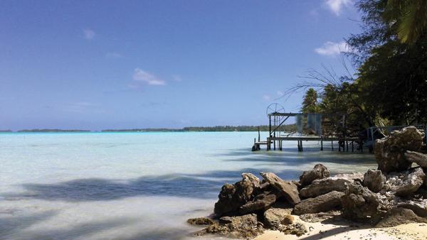 Krajobraz natury Polinezji Francuskiej